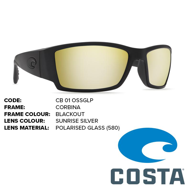 9b26ca586c467 Costa Corbina Glass Lens Sunglasses - Outback Adventures Camping Stores