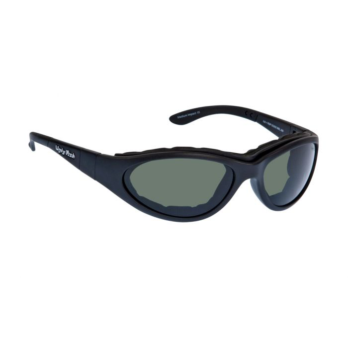 23d979e394 Ugly Fish Glide RSP03282 Matt Black Frame Smoke Lens Safety Polarised  Sunglasses