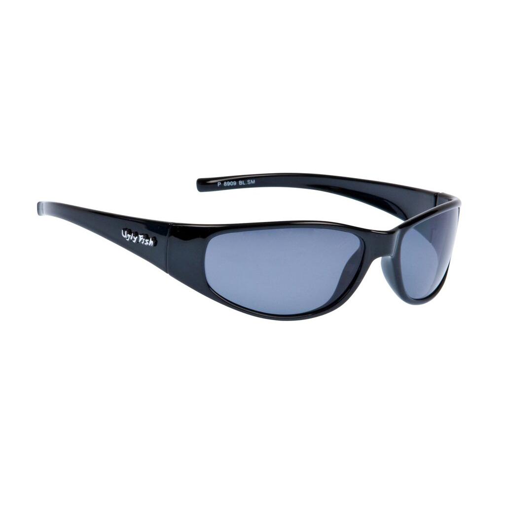 0c94faf24f53 Ugly Fish P8909 Shiny Black Frame Smoke Lens Polarised Sunglasses ...