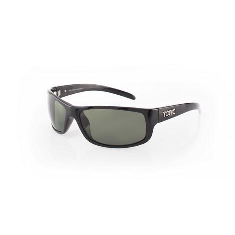 91783b279697 Tonic Sunglasses – Bono – Shiny Black Frame with Polycarbonate Grey Lens