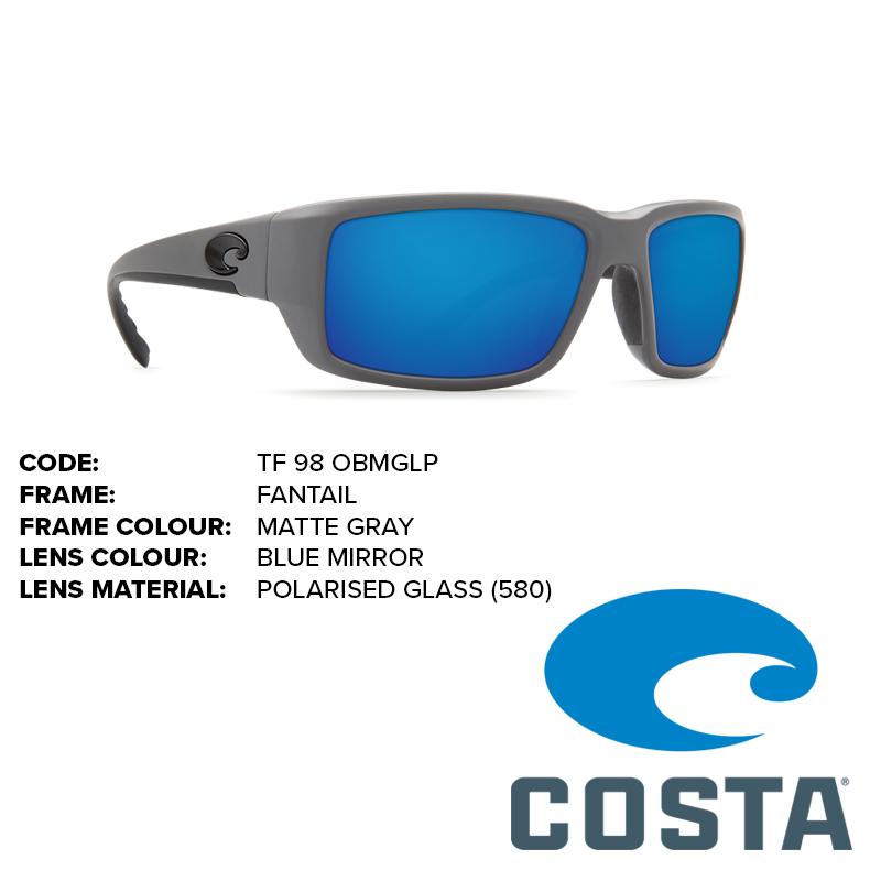 9ebe9616e1666 Costa Fantail Glass Lens Sunglasses - Outback Adventures Camping Stores