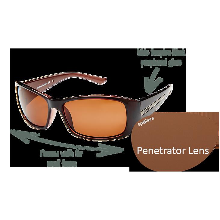 0b95d36565 Spotters Sunglasses - Ellie - Gloss Black Frame with Penetrator Lens ...
