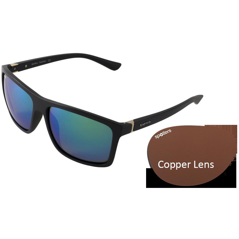 e74f243ffd Spotters Sunglasses – Grayson – Matt Black Frame with Copper CR-39 Lens
