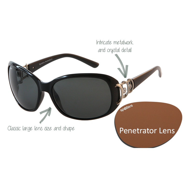 496a2d9b6c Spotters Sunglasses – Sophia – Pearl Brown Frame with Penetrator Lens